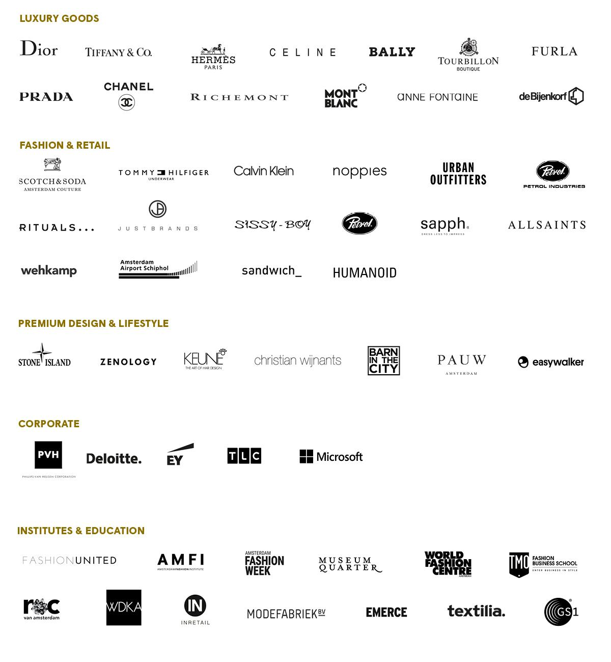 Logo companies - Isrid van Geuns - Recruitment specializing in fashion & luxury